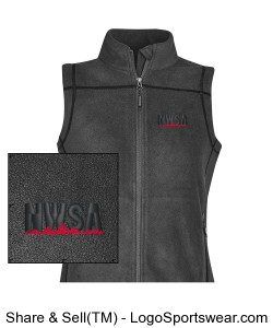 Womens Fleece Vest Design Zoom