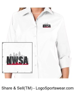 Womens NWSA Stretch Cotton Blend Shirt Design Zoom